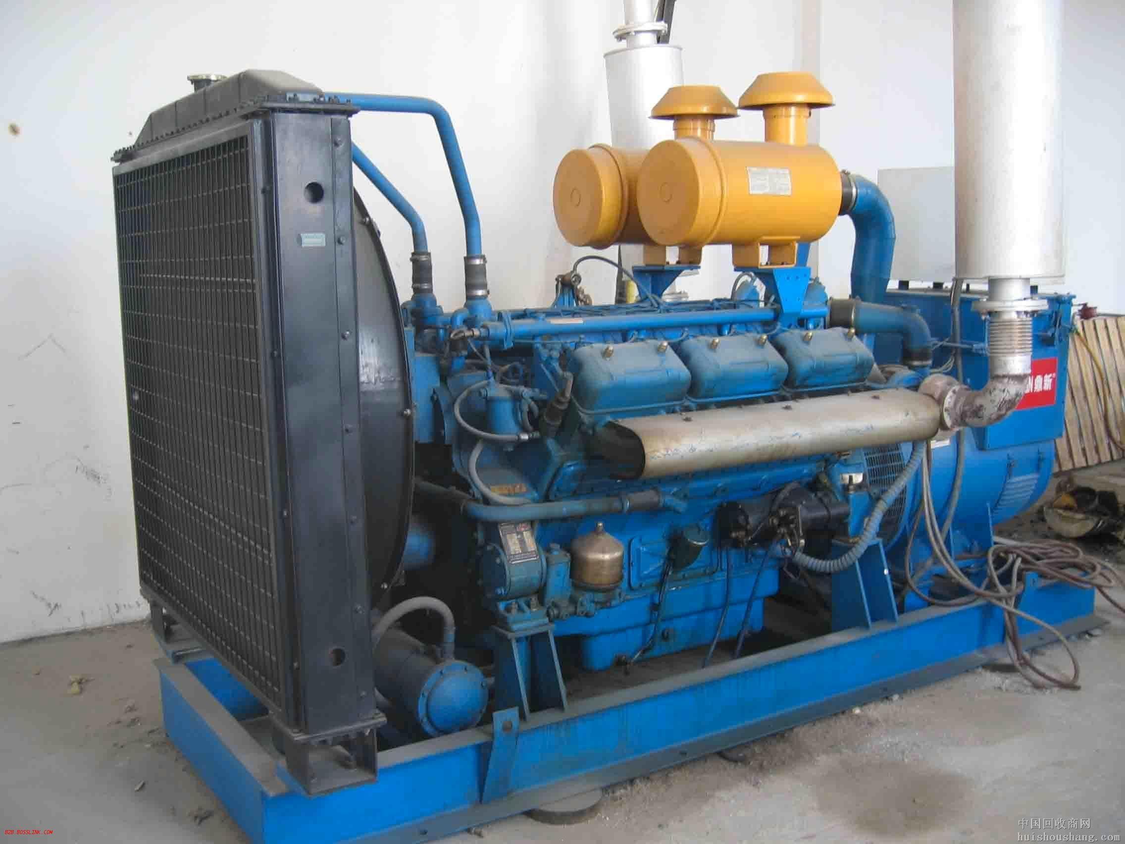 池州蓝色二手发电机出售