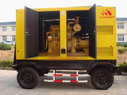 池州应急发电机-300kw移动静音发电机组